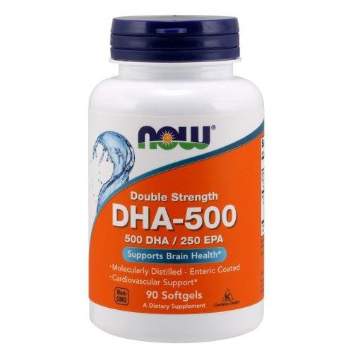 NOW Foods  DHA-500, 500 DHA / 250 EPA , 90 softgels