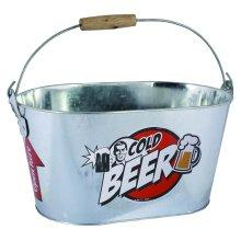 Large Beer Cooler Ice Bucket | Drink Holder Drink Cooler Metal Ice Bucket