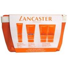 Lancaster Sun Care Giftset 50ml Silky Fluid Milk SPF15 + 30ml Sun Beauty Velvet Face Cream SPF30 + 2 x 50ml After Sun Tan Maximizer + Pouch - U