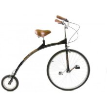 Ammaco Penny Farthing 700c Gentlemans High Wheel Bike Black