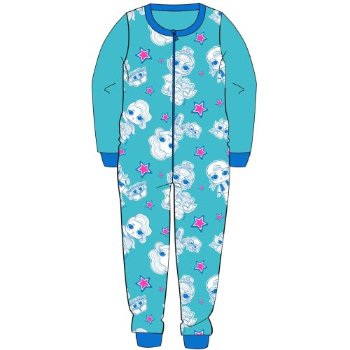 Girls Aqua L.O.L Surprise Fleece Onesie