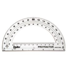 Helix Standard 180 Degree Protractor 6 Inch / 15cm Assorted Colors (18801)