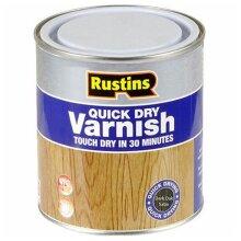 Rustins Quick Dry Coloured Varnish Satin Dark Oak 500ml