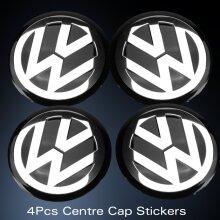 MODIFIX STORE ONLY -> 75mm WHEELS CENTRE CAP EMBLEM LOGO STICKER BLACK FOR VW GOLF PASSAT CC POLO SCIROCCO