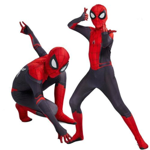 Kid Boy Spider-Man Far From Home Spiderman Zentai Party Cosplay Costume Clothes