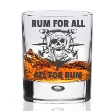 'Rum For All, All For Rum' Pirate Tumbler   Pirate Rum Glass