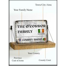 Personalised Irish Family Name Metal Sign Superbly Designed