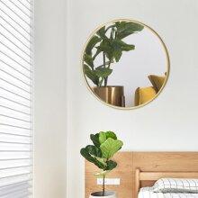 Large round gold wall mirror Brushed Gold Metal Frame Round Mirror