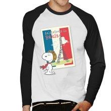 Peanuts Snoopy In Paris Men's Baseball Long Sleeved T-Shirt