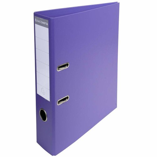 Exacompta A4 Prem Touch PVC Lever Arch File, 70 mm Spine, 2 Ring, Dark Purple