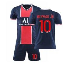20/21 Paris Saint-Germain Neymar Jr. Men's Home Soccer Jersey Kit for Kids Teens