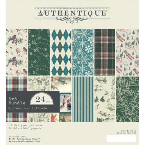 "Authentique Double-Sided Cardstock Pad 6""X6"" 24/Pkg-Solitude, 6 Designs/4 Each"
