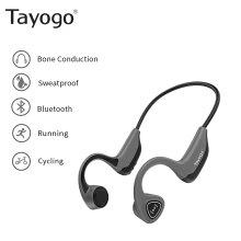 Bone Conduction Bluetooth Headphones with Wireless Microphone