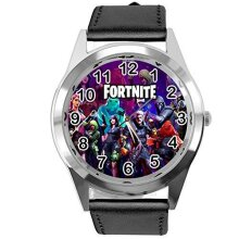 TAPORT Black Leather Fortnite Watch