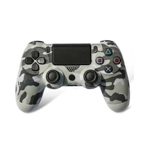 Unofficial Grey Camouflage Wireless Controller For Playstation 4/Slim/Pro Console