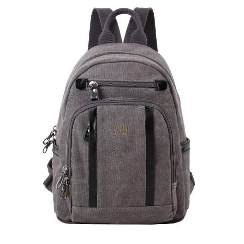 Troop London Classic Small Canvas Backpack   Buy Bags Online   Canvas Bags   leather canvas backpack