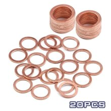 Solid Copper Washer Flat Ring Gasket Sump Plug Oil Seal Fittings Fastener Hardware Accessories