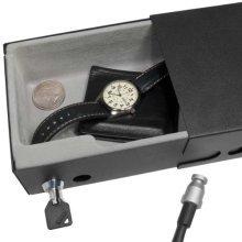 BARSKA Drawer Style Compact Key Lock Safe with Lid, Black, Medium