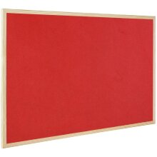 Bi-Office Reversible Notice Board With Wall fastening kit wood frame 90x60cm