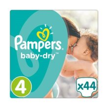 44 Pampers Baby Dry Nappies  ~  Size 4  ~  9-14kg