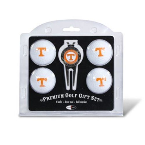 Tennessee Volunteers Pack of 4 Golf Balls and Divet Tool Gift Set