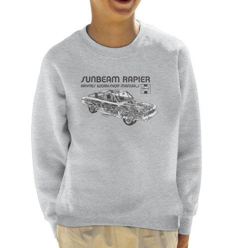 Haynes Owners Workshop Manual 0012 Sunbeam Rapier Black Kid's Sweatshirt