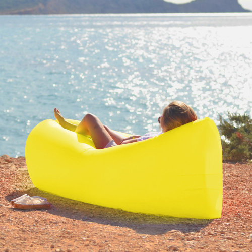 Trixes Yellow Inflatable Lounger | Blow-Up Sun Lounger