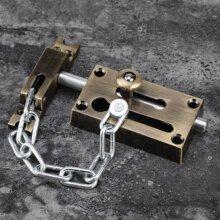 Door Chain-Bolt-Locks, Anti-theft Chain-Lock, Window/Door Antique-Latch Hardware