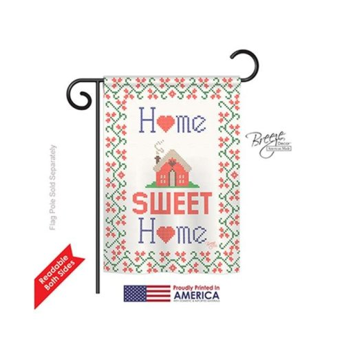 Breeze Decor 50062 Welcome Sweet Home 2-Sided Impression Garden Flag - 13 x 18.5 in.