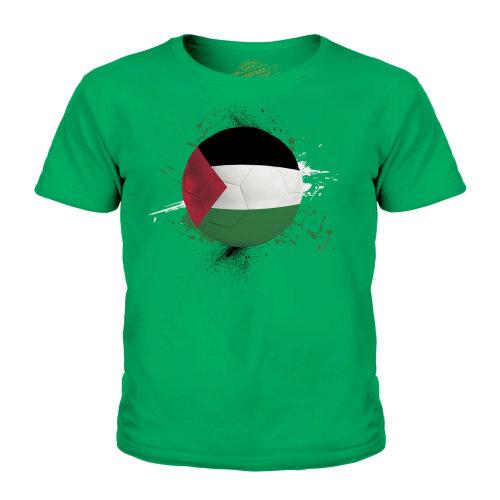 (Irish Green, 3-4 Years) Candymix - Palestine Football - Unisex Kid's T-Shirt