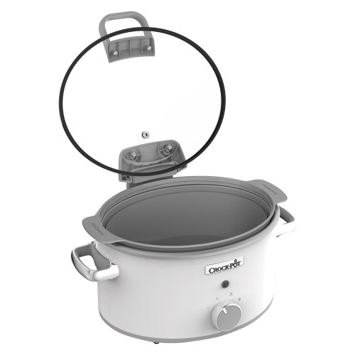Crock-Pot CSC038 DuraCeramic Saute Slow Cooker With Hinged Lid 4.5 L - White