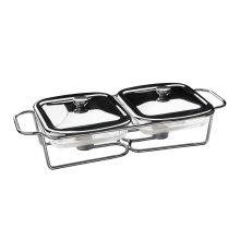 Twin Food Warmer, 1 L, Stainless Steel