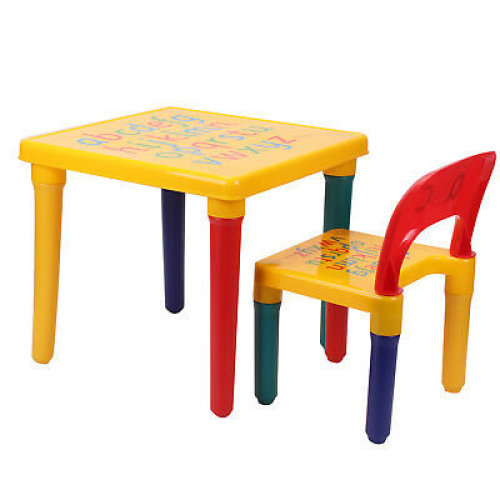 Childrens Table and Chair Set ABC Alphabet - Kids Toddlers Child - Kit