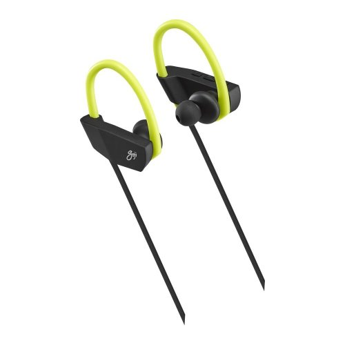 GOJI GSHOKBT18 Wireless Bluetooth Headphones - Black & Green, Black - Refurbished