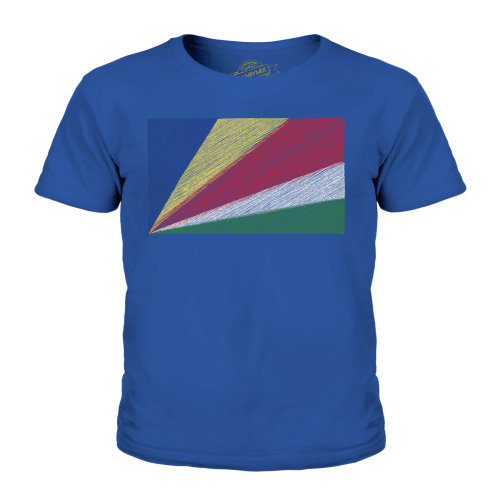Candymix - Seychelles Scribble Flag - Unisex Kid's T-Shirt