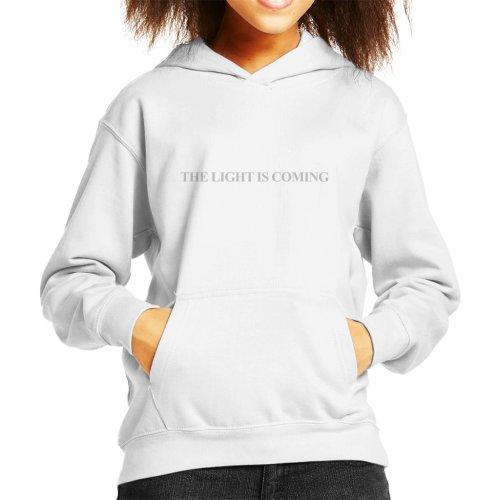The Light Is Coming Slogan Kid's Hooded Sweatshirt