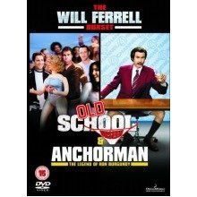 Will Ferrel - Old School - Unseen / Anchorman - The Legend Of Ron Burgundy DVD [2006] - Used