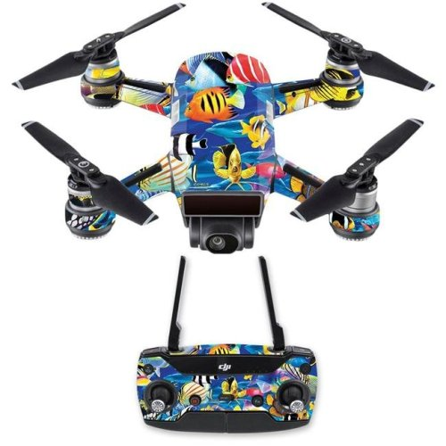 MightySkins DJSPCMB-Tropical Fish Skin Decal for DJI Spark Mini Drone Combo - Tropical Fish