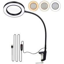 5X LED Magnifying Glass Light Clamp Desk Lamp