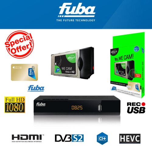 Tivusat HD CAM + Active Smartcard bundle with Fuba ODE825 HD CI+ HD Decoder
