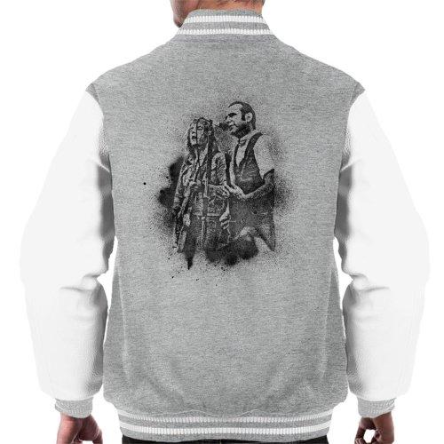 (Medium) TV Times Status Quo Live Grain Effect Men's Varsity Jacket
