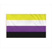 Non Binary Gay Pride LGBTQ+ Flag 5ft x 3ft