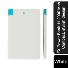 FX Power Bank 11 2000 Mah Compact, stylish design - White