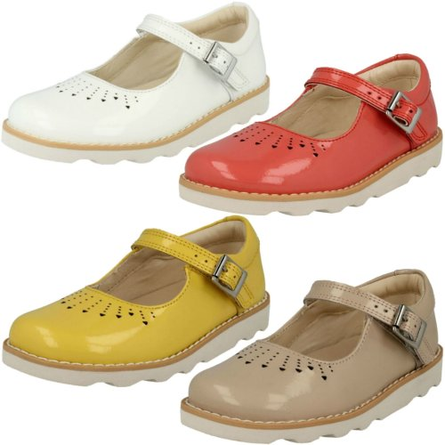 Girls Clarks Casual Shoes Crown Jump - G Fit