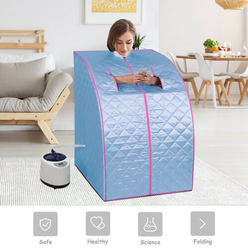 L portable steam sauna tent spa loss weight full
