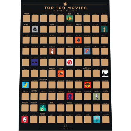 Top Films Of All Time Bucket List 100 Movies Poster Gift For Cinefiles