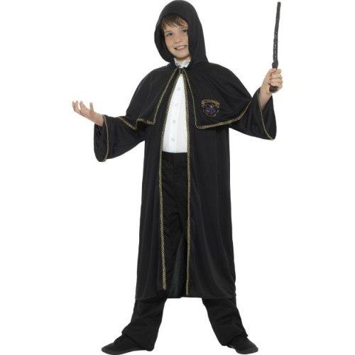 Smiffys Children's Medium Wizard Cloak | Age 7-9 Black Fancy Dress Cloak
