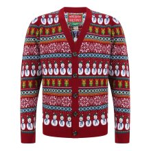 Mens Knitted Christmas Button Up Cardigan