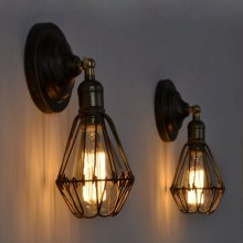 E27 Vintage Industrial Retro Wall Lights Fittings Indoor Sconce iron