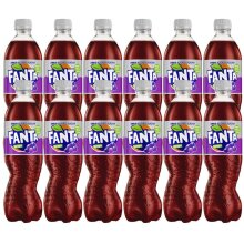 Pack Of 12 Fanta Grape Zero Added Sugar 500ml Bottles